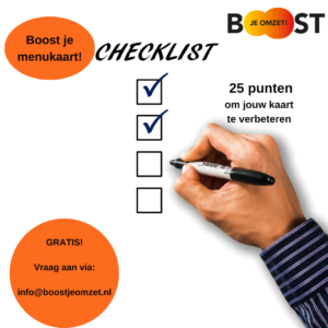 Checklist boost je menukaart! van Roux Communicatie en Concreet Advies