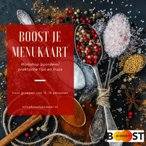 portfolio roux communicatie boost je menukaart! workshop