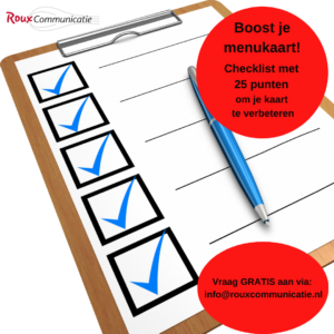 gratis checklist 25 punten om je menukaart een boost te geven