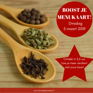 boost je menukaart 5 maart 2019 workshop roux communicatie