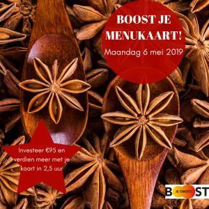 boost je menukaart! 6 mei roux communicatie