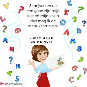 menukaarten inspiratieboek Wat maak je me nu?! Roux Communicatie