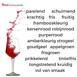 voeg smakelijke wijnwoorden toe aan je wijnkaart