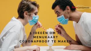 blog roux communicatie 5 ideeën om je menukaart coronaproof te maken